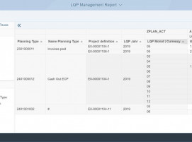 Screenshot LPC Daten in SAP Analytics Foundation